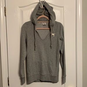 Lady's Gray Hoodie by Pink size S/P